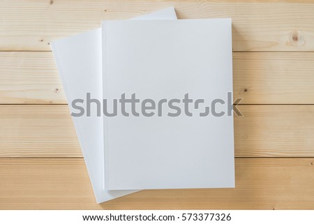two blank a4 size book cover...