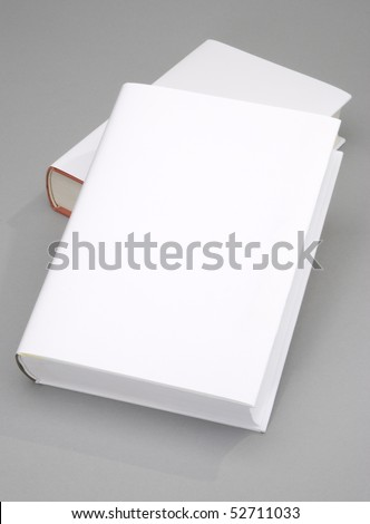 Two Blank book w white cover - stock photo