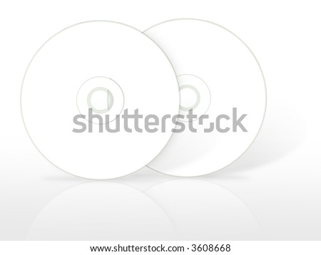 Two blank compact disc. (with clipping path)
