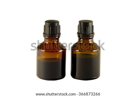 Two bottles of iodine and brilliant green isolated on white background Zdjęcia stock ©