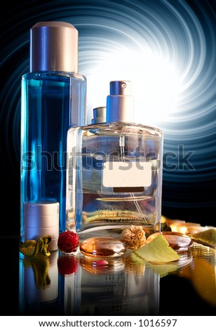 Two Bottles of Parfume - decor with great background