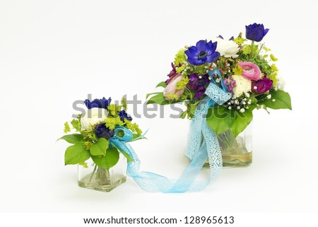 Two bouquets for mother and child