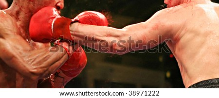 Two boxers during the boxing match