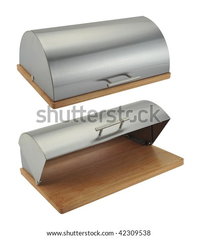 Two bread box under the white background