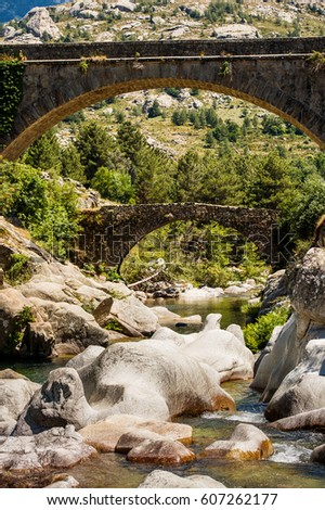 two bridges over rock canyon on ...