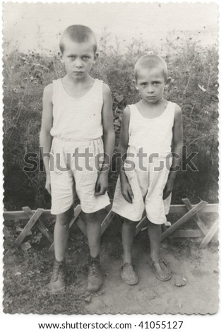 Two brothers. USSR, mid 20 century