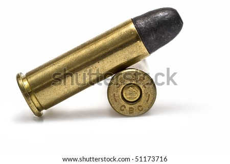 Two bullets isolated on white background.