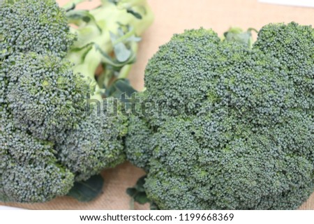 Two bunches of Marathon Broccoli  #1199668369