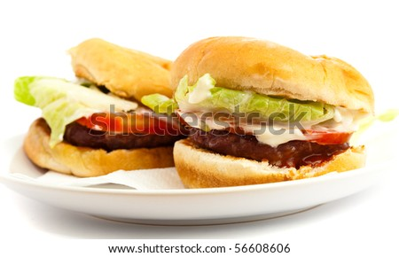 two burger isolated