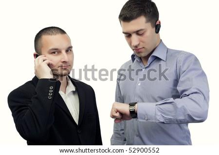 people talking on phone. business people talking on