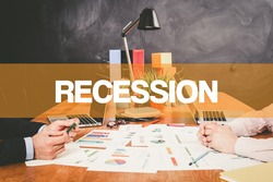 Two Businessman Recession working in an office