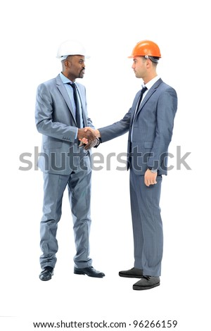 two businessman shaking their hands