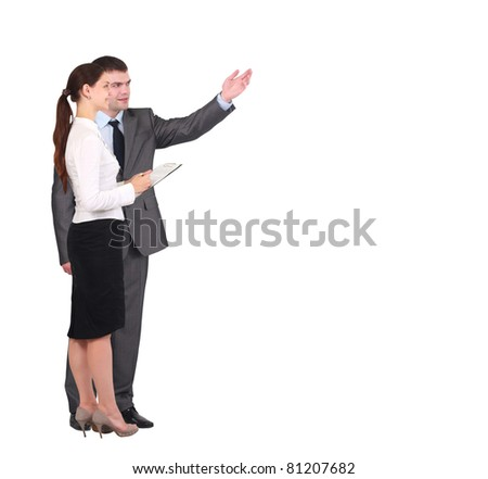 Two businessmen discussing - Isolated studio picture in high resolution