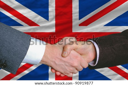 Great Britain - national flag and outline maps