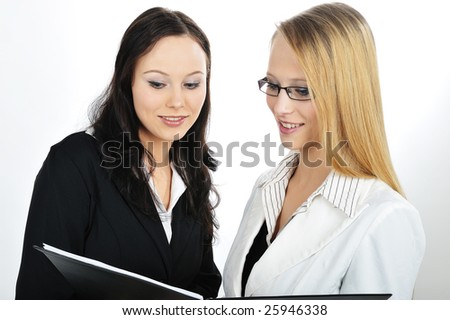 Two Businesswoman Discussion about work