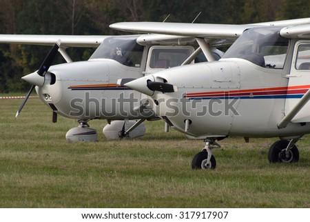Two C-172 Cessna Skyhawk noses