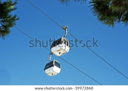 Two Cable car - stock photo