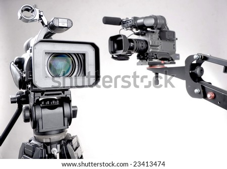 two camcorders