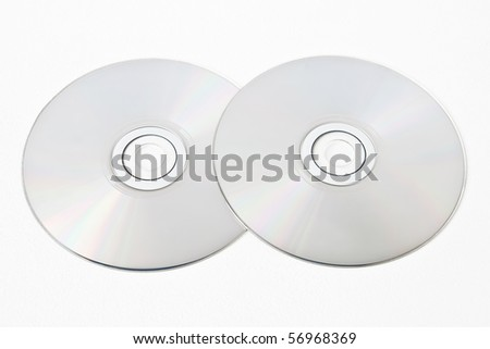 Two cd on white background
