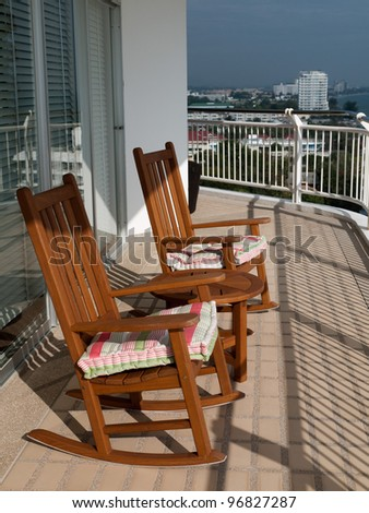 Two chair on porch