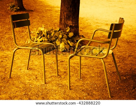 two chairs facing each other in ...