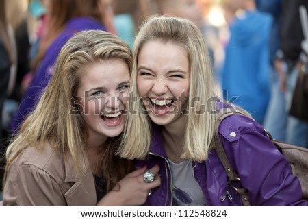 Two cheerful girls