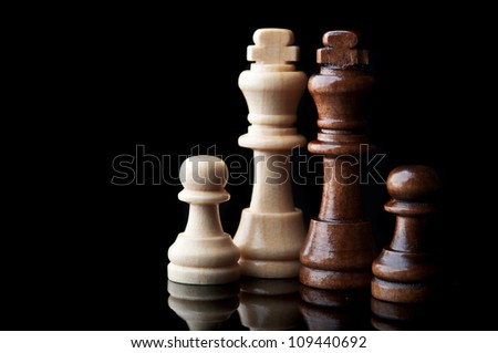 two chess king isolated on white background