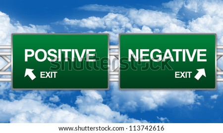 Positive And Negative Signs Positive And Negative Sign