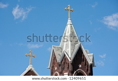 Two Church Steeples