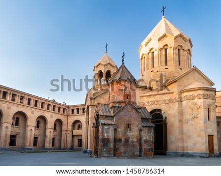 Two churches in the center of Yerevan, Armenia - Katoghike and Saint Anna. According to the scripts carved on one of the walls of Katoghike Church, the surviving structure dates back to 1264.