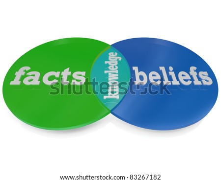 Two Circles Intersect And Overlap To Create A Venn Diagram