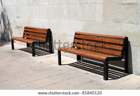 Two city benches.