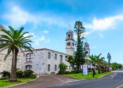 Two Clock Towers on Old Naval Dockyard in Bermuda