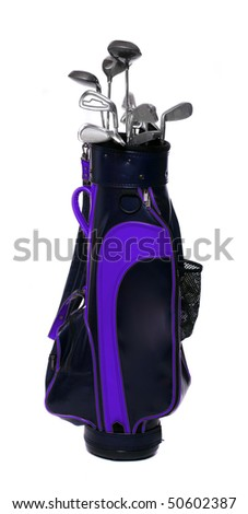 Two color golf clubs bag - isolated on a white background.
