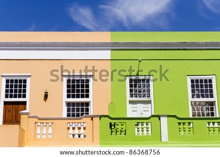 Two colorful houses in Cape Town