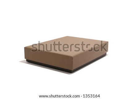 Two colour brownblack box isolated on white with good shadow