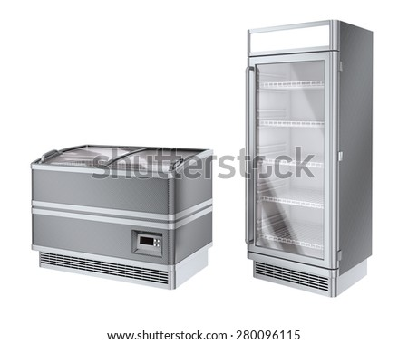 Two commercial refrigerator