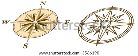 Two Compasses in perspective