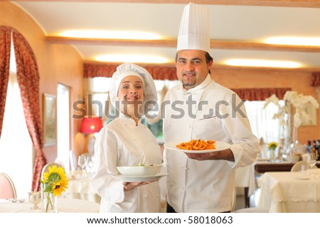 two cook in a restaurant