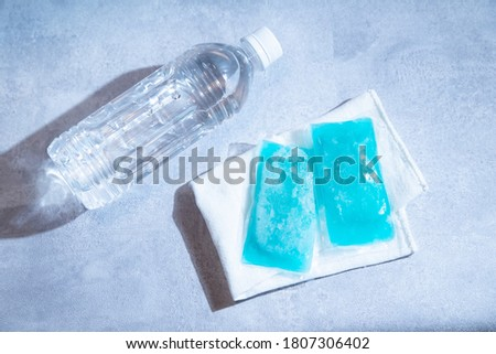 Two coolers/ice packs to keep food and body cool. Stock photo ©