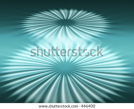 Two cosmic flowers - stock photo