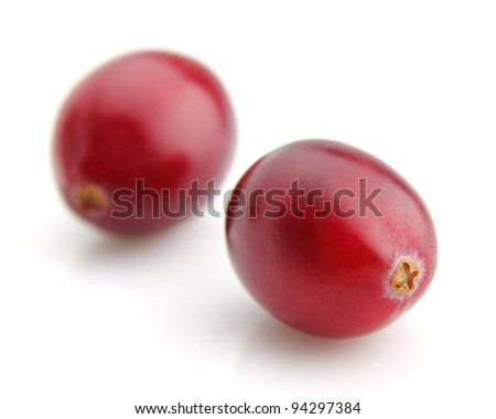 Two cranberry in closeup