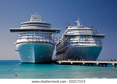 Two Cruise Ships Docked in Grand Turk Island