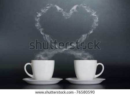 Two cups of coffee with love