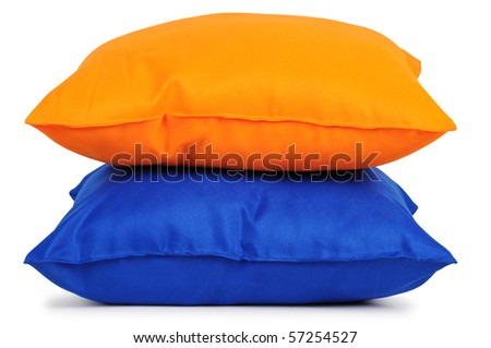 Two cushions. Isolated