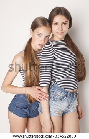 Cute Teenagers royalty-free two cute teenagers having fun together… #498433798