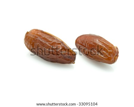 Two dates on a white background