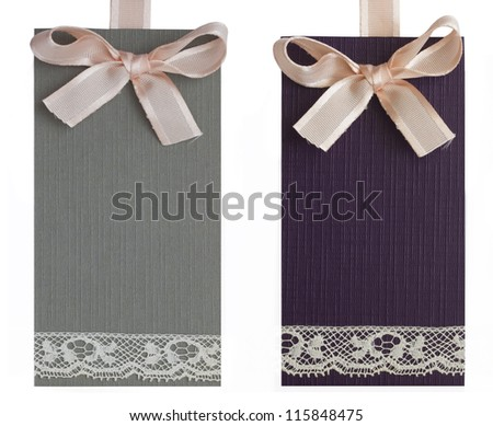 two decorative tags
