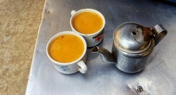 Two desi style tea cup with cattle