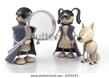 two detectives are searched by evidences